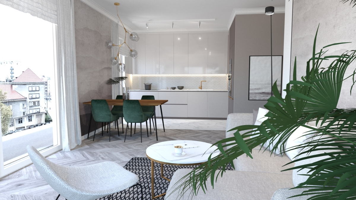 Lekki styl Modern cudowny do mieszkań i małych przestrzeni.
